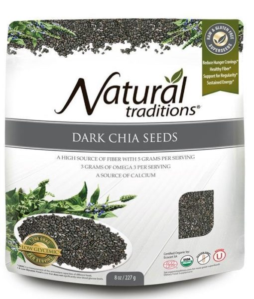 Natural Traditions Dark Chia Seeds