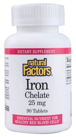 Natural Factors Iron 25mg
