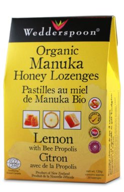 Wedderspoon Organic Manuka Honey Lozenges Lemon