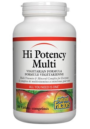 Natural Factors Hi Potency Multi Vitamins